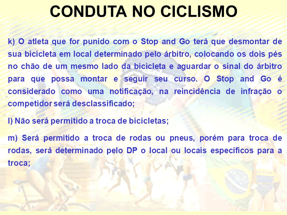 CONDUTA NO CICLISMO