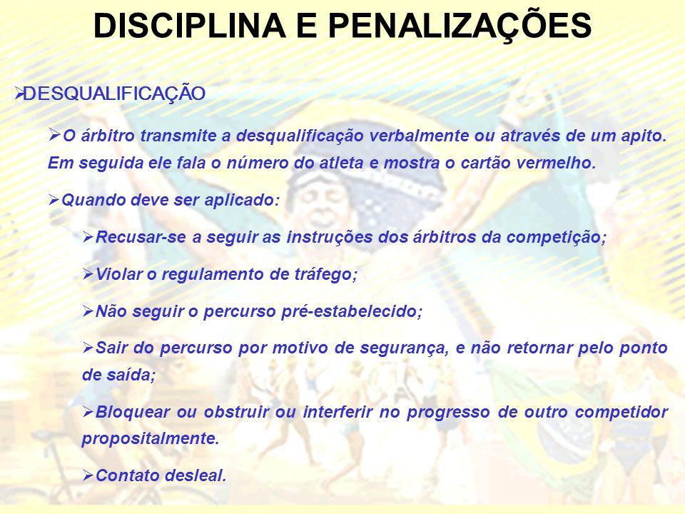 DISCIPLINA E PENALIZAÇÕES