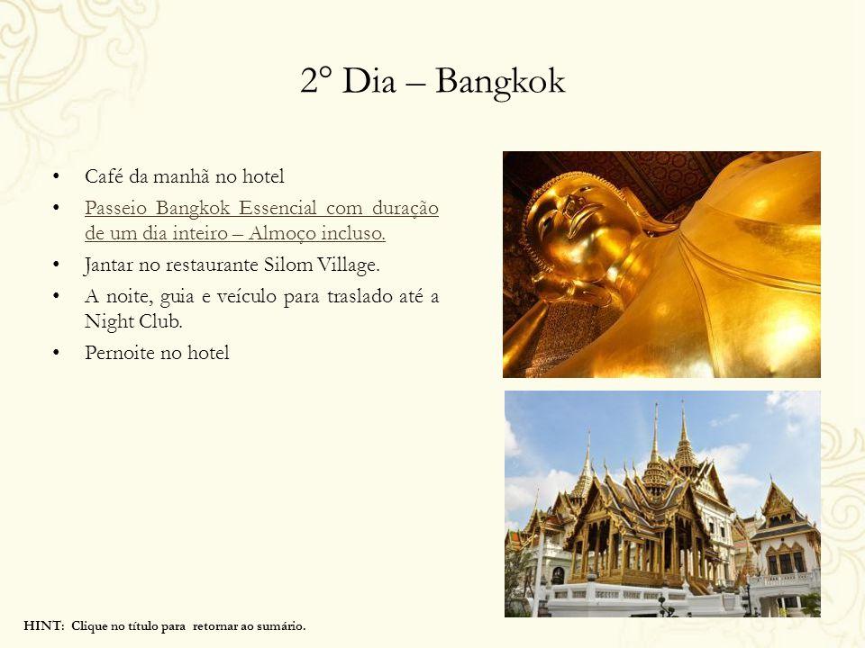 2° Dia – Bangkok Café da manhã no hotel