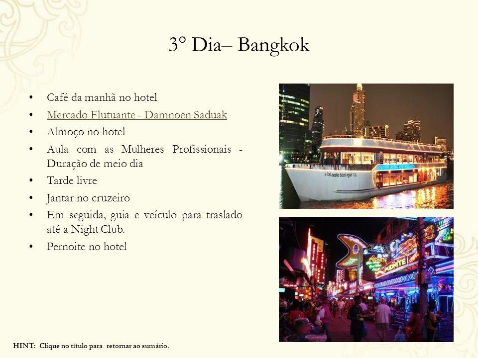3° Dia– Bangkok Café da manhã no hotel