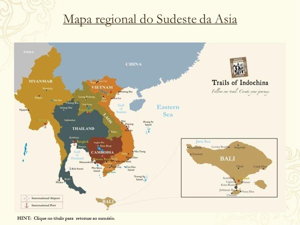 Mapa regional do Sudeste da Asia
