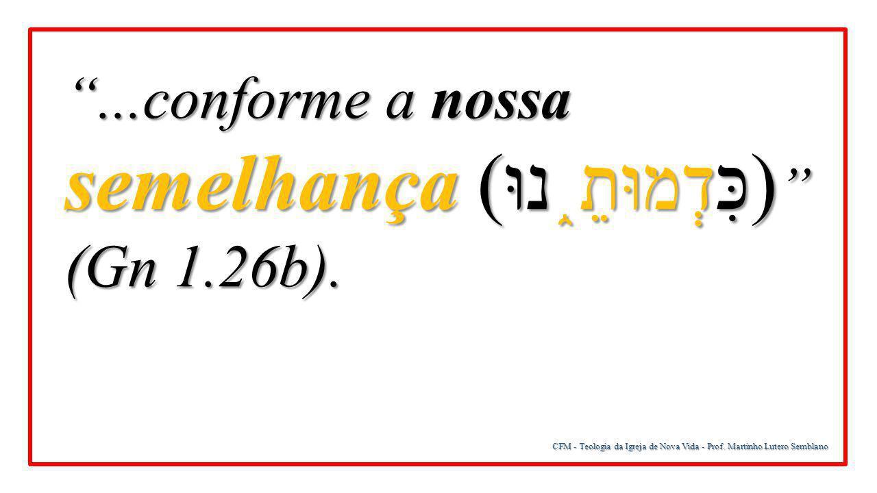 ...conforme a nossa semelhança (כִּדְמוּתֵ֑נוּ) (Gn 1.26b).