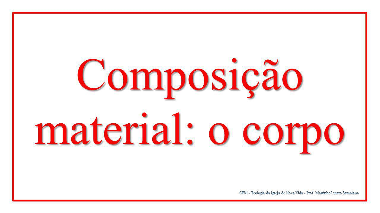 Composição material: o corpo