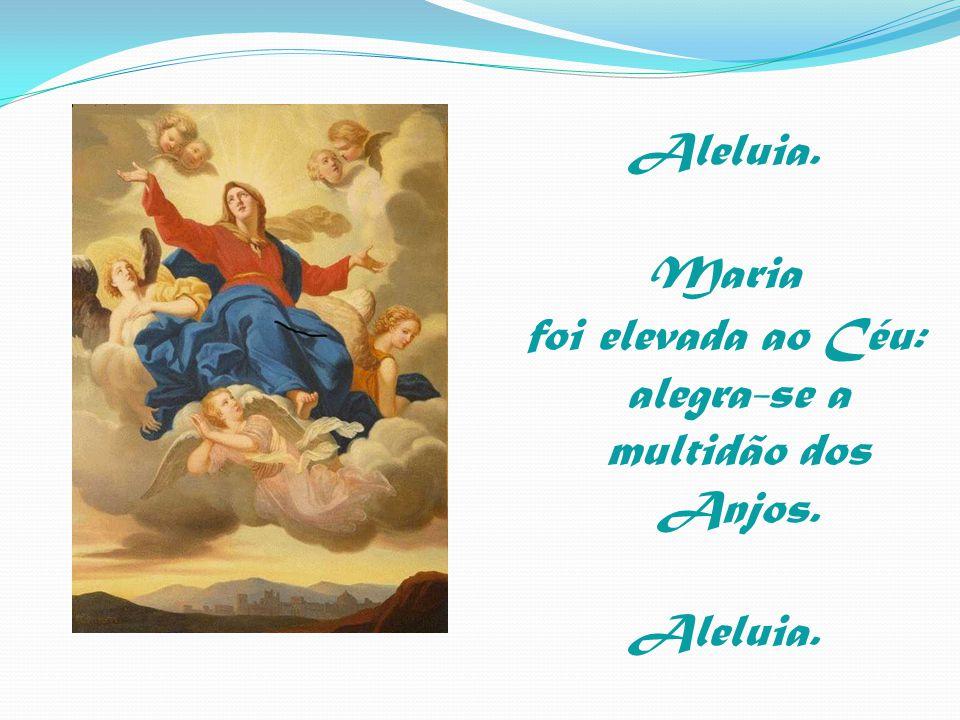 Aleluia. Maria foi elevada ao Céu: alegra-se a multidão dos Anjos.