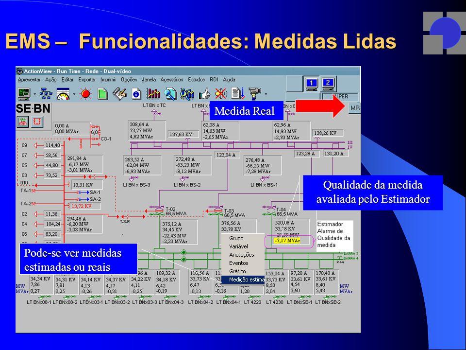 EMS – Funcionalidades: Medidas Lidas