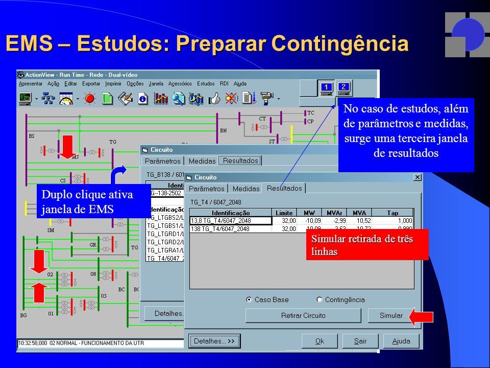 EMS – Estudos: Preparar Contingência
