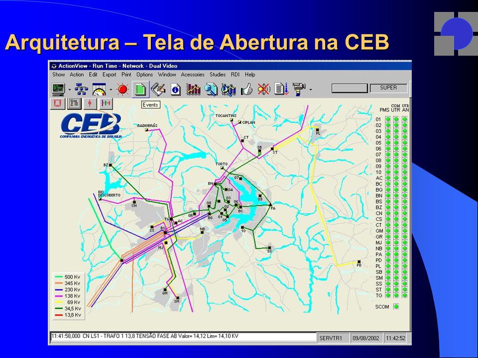 Arquitetura – Tela de Abertura na CEB