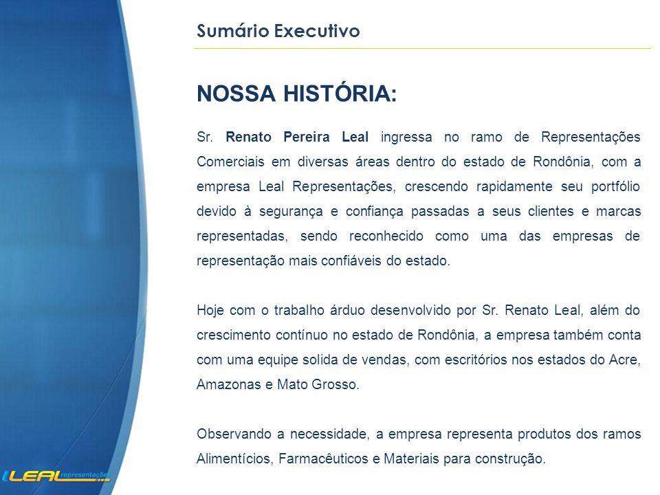 NOSSA HISTÓRIA: Sumário Executivo
