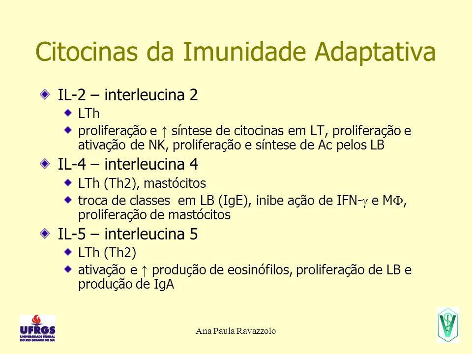 Citocinas da Imunidade Adaptativa