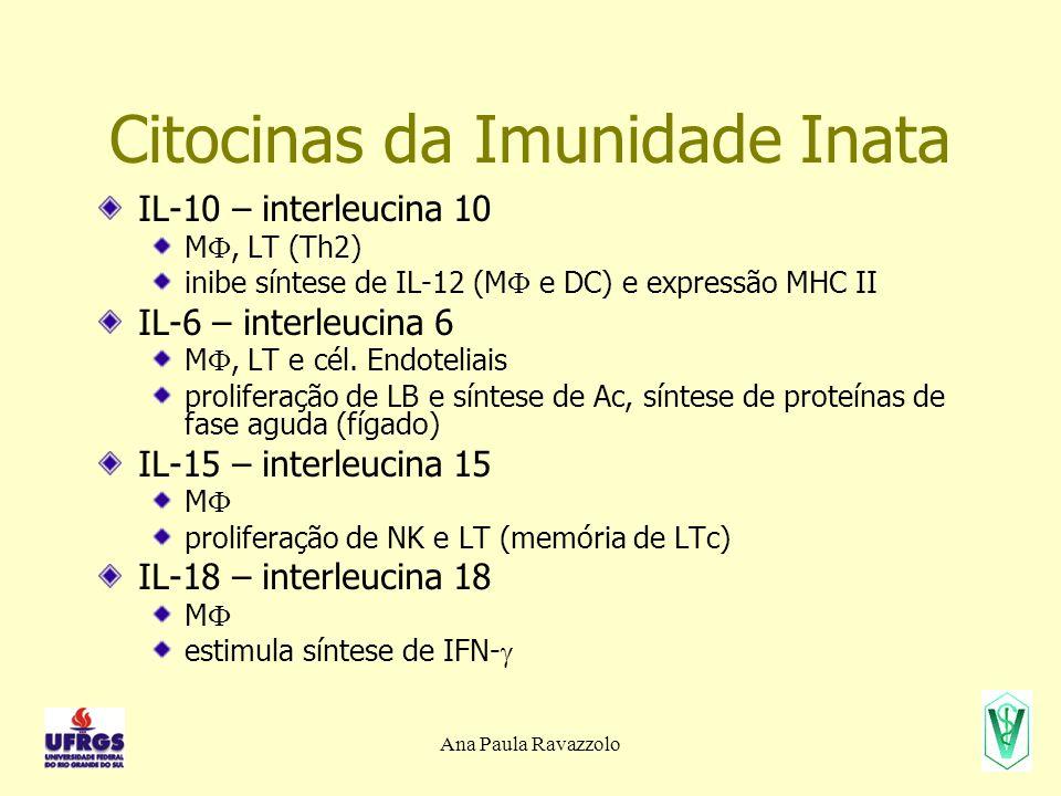Citocinas da Imunidade Inata