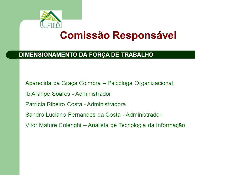 Comissão Responsável DIMENSIONAMENTO DA FORÇA DE TRABALHO
