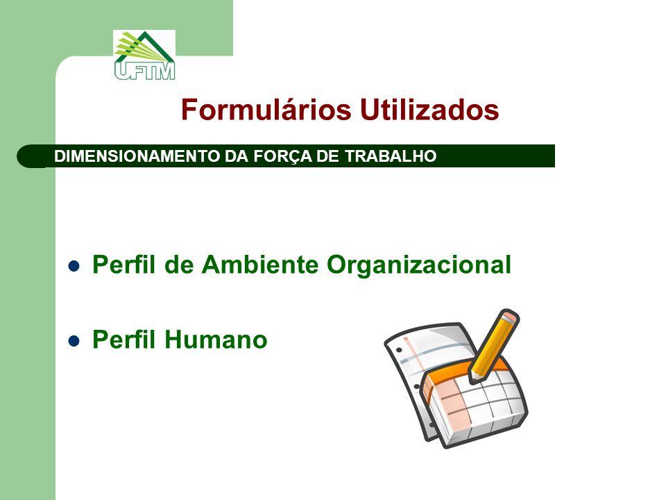 Formulários Utilizados