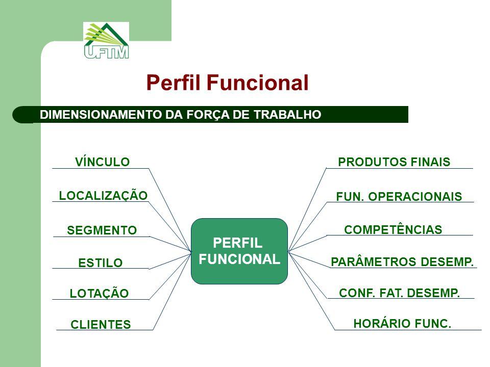 Perfil Funcional PERFIL FUNCIONAL DIMENSIONAMENTO DA FORÇA DE TRABALHO