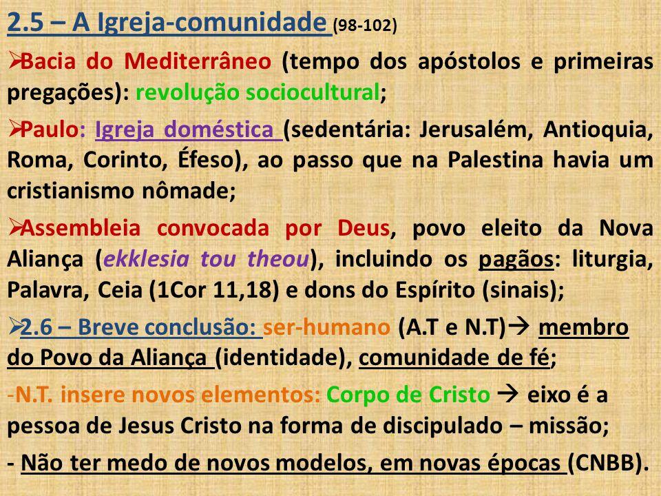 2.5 – A Igreja-comunidade (98-102)