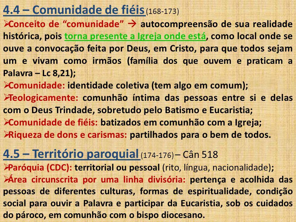4.4 – Comunidade de fiéis (168-173)