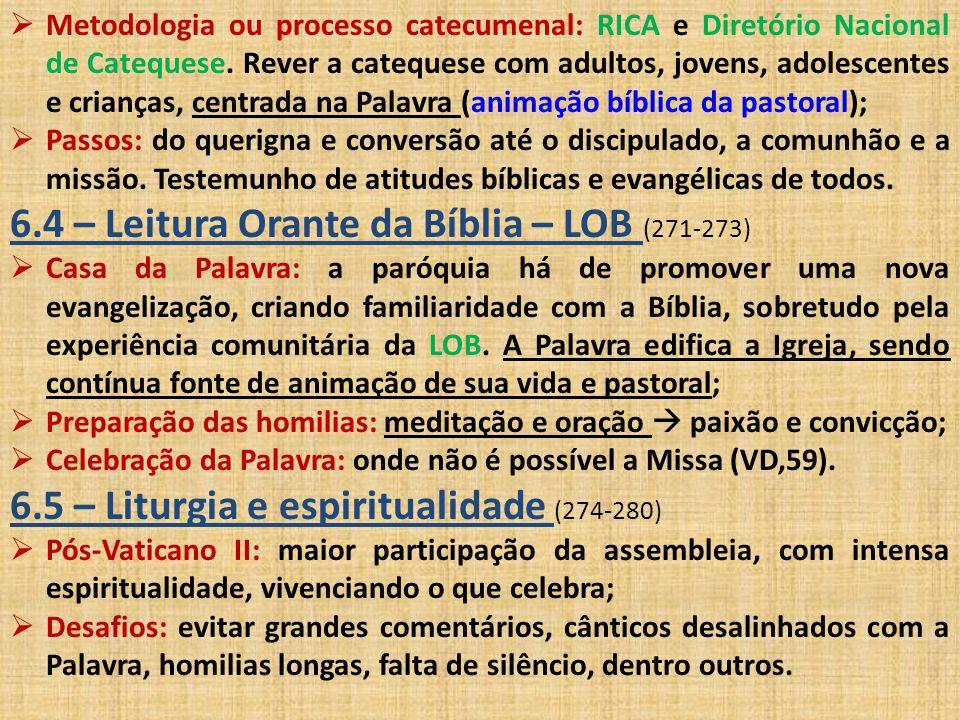 6.4 – Leitura Orante da Bíblia – LOB (271-273)