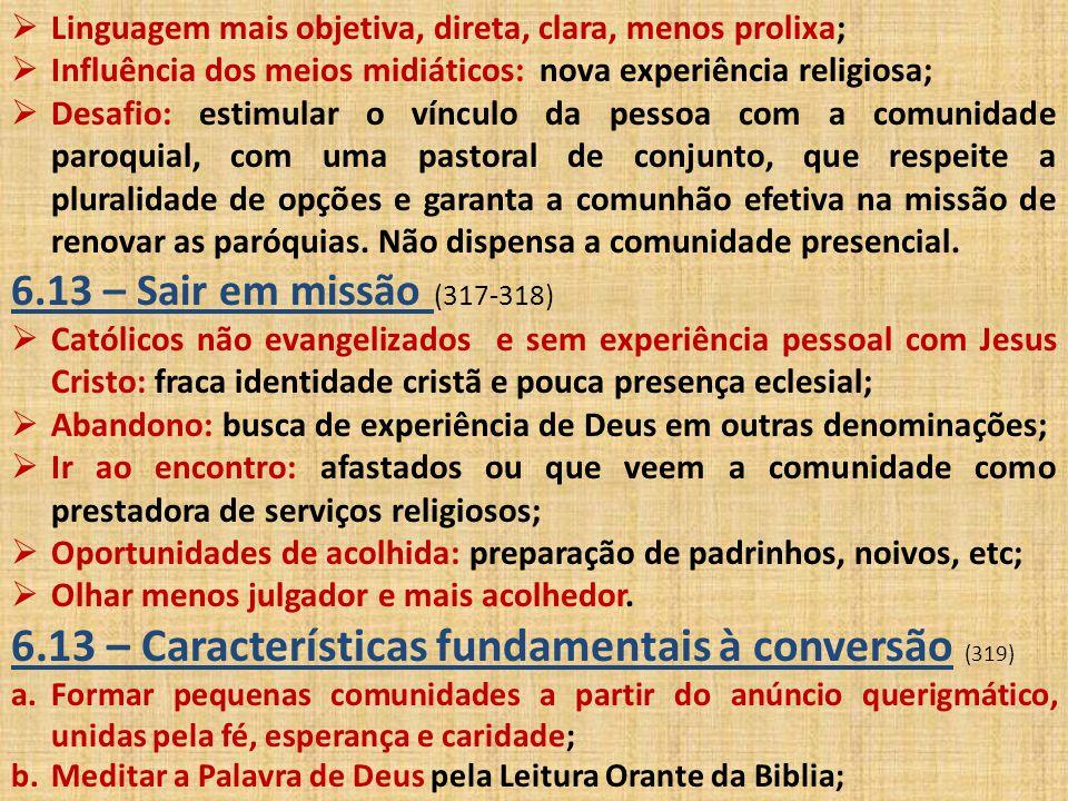 6.13 – Características fundamentais à conversão (319)