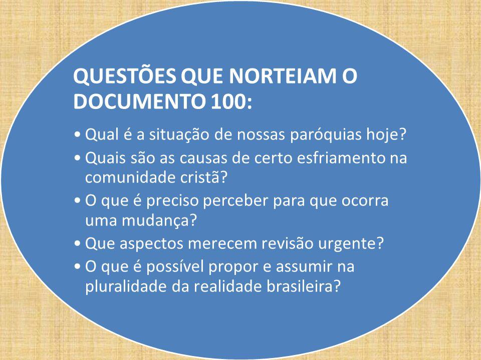 QUESTÕES QUE NORTEIAM O DOCUMENTO 100: