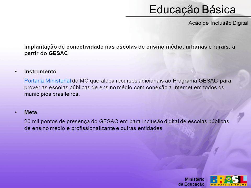 Educação Básica Ação de Inclusão Digital