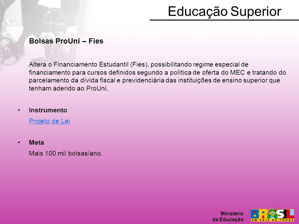Educação Superior Bolsas ProUni – Fies