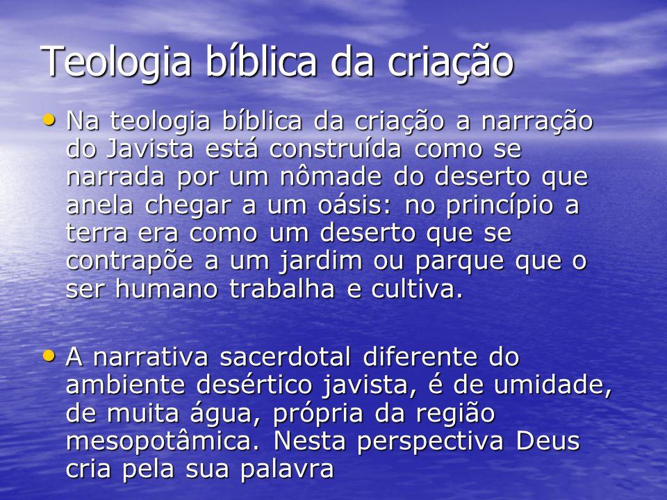 Teologia bíblica da criação