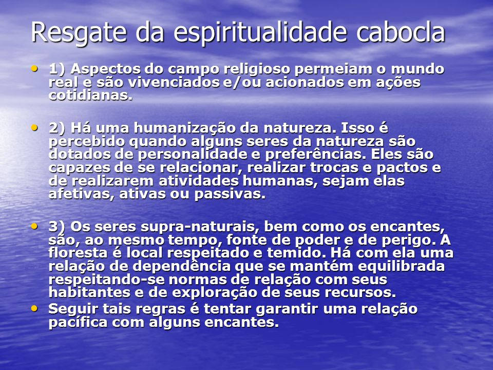 Resgate da espiritualidade cabocla