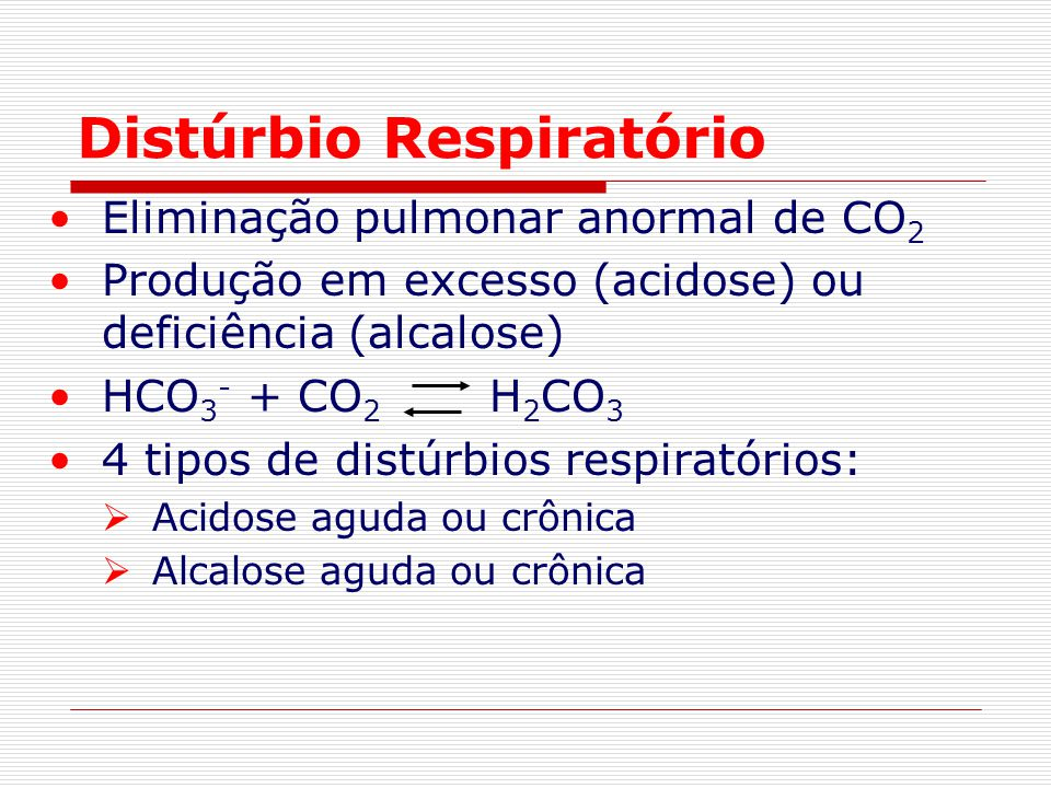 Distúrbio Respiratório