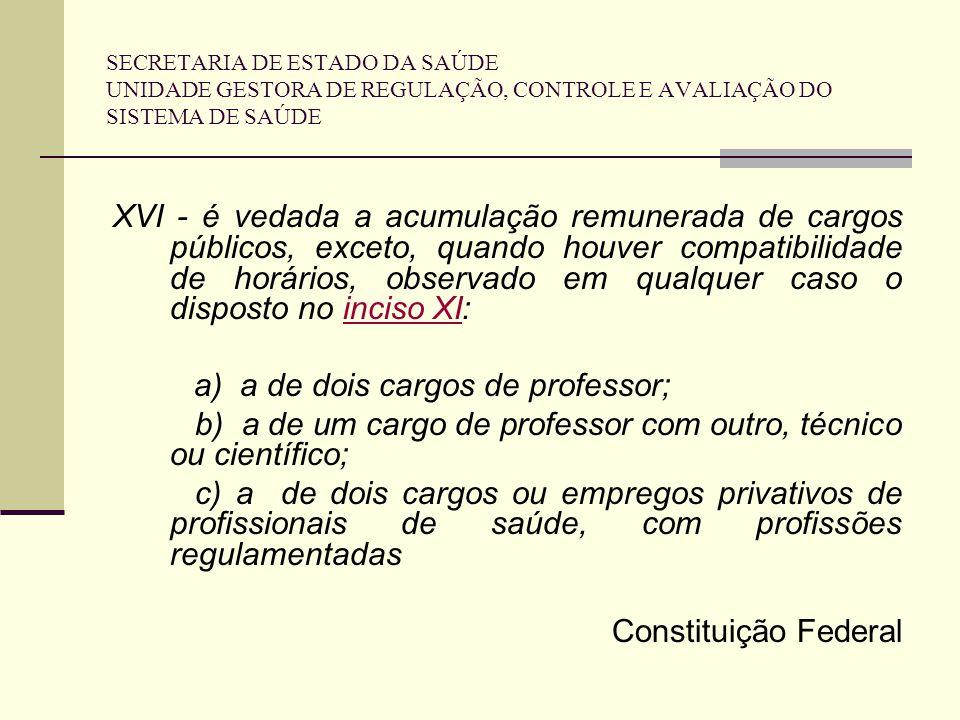 a) a de dois cargos de professor;