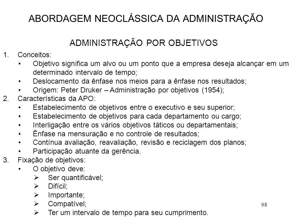 ABORDAGEM NEOCLÁSSICA DA ADMINISTRAÇÃO
