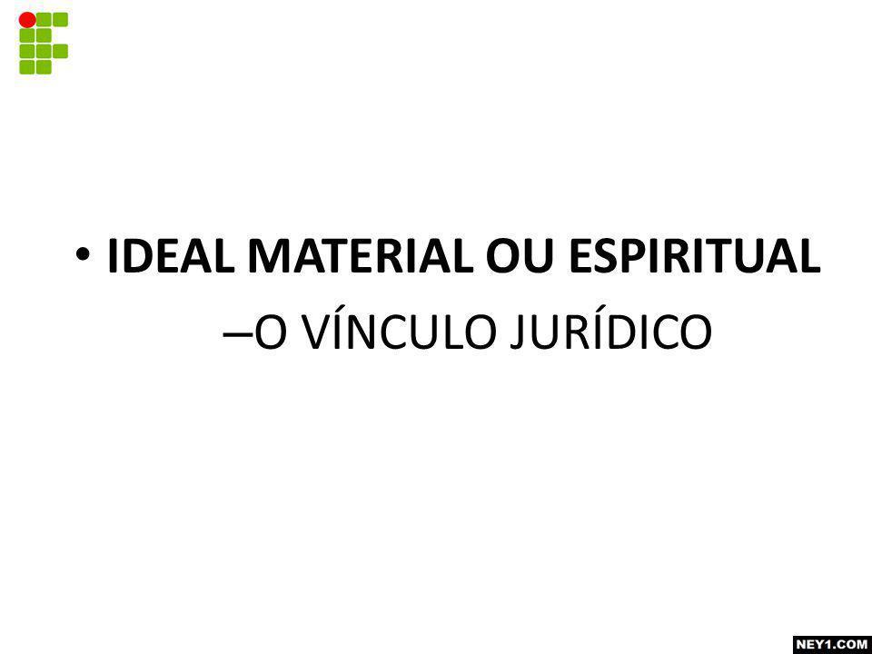 IDEAL MATERIAL OU ESPIRITUAL