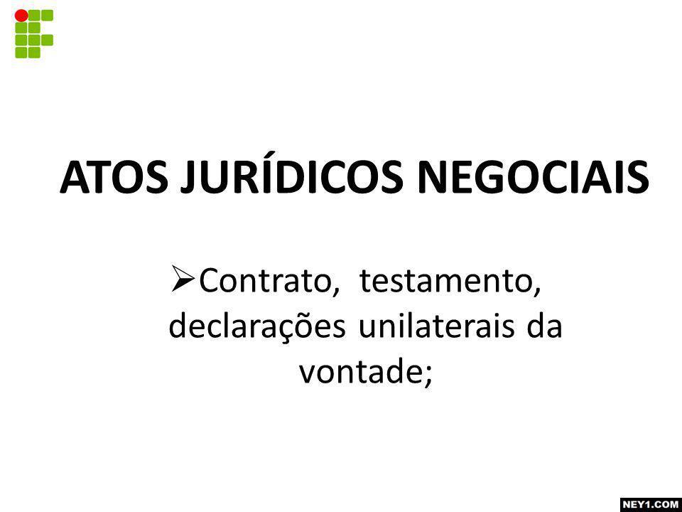 ATOS JURÍDICOS NEGOCIAIS