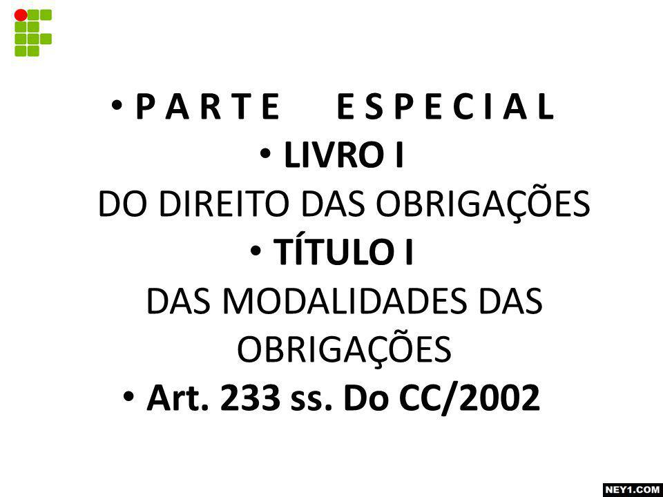 P A R T E E S P E C I A L Art. 233 ss. Do CC/2002