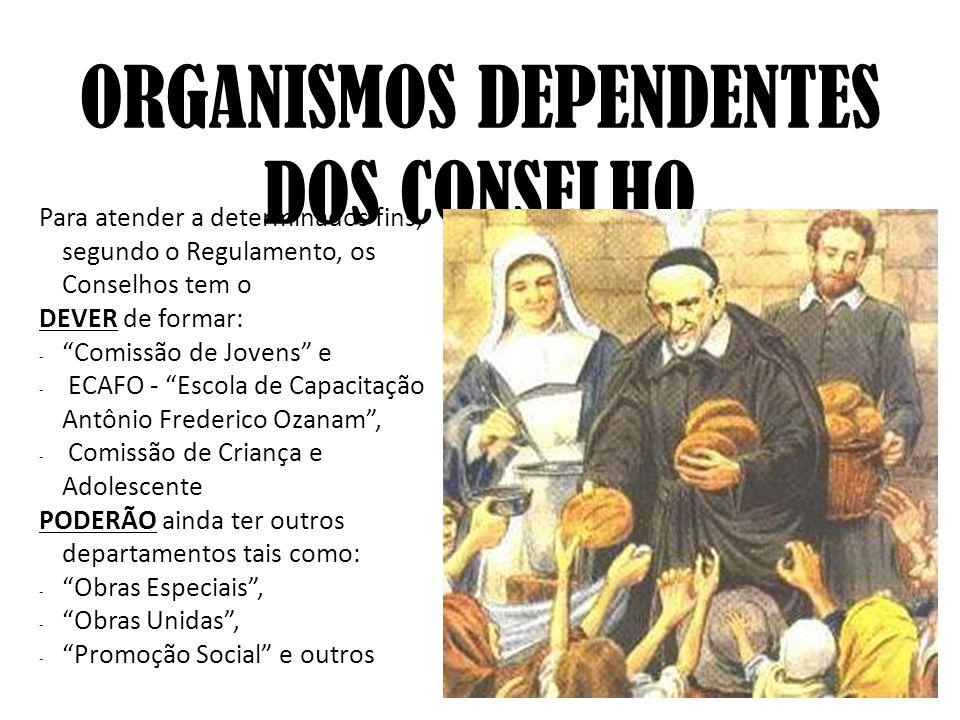 ORGANISMOS DEPENDENTES DOS CONSELHO