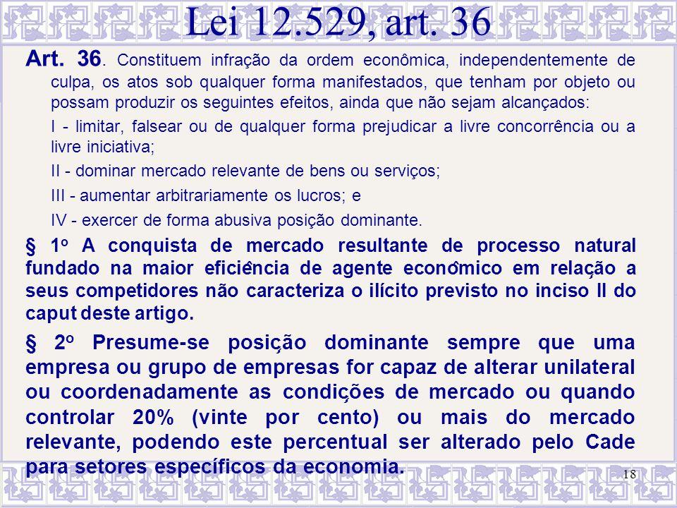 Lei 12.529, art. 36
