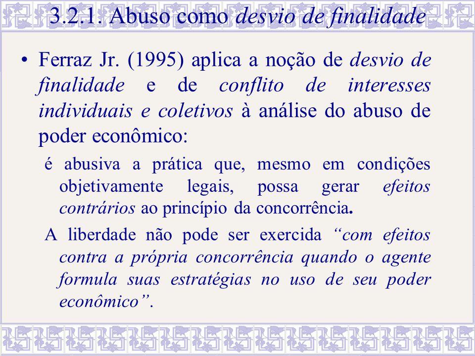 3.2.1. Abuso como desvio de finalidade