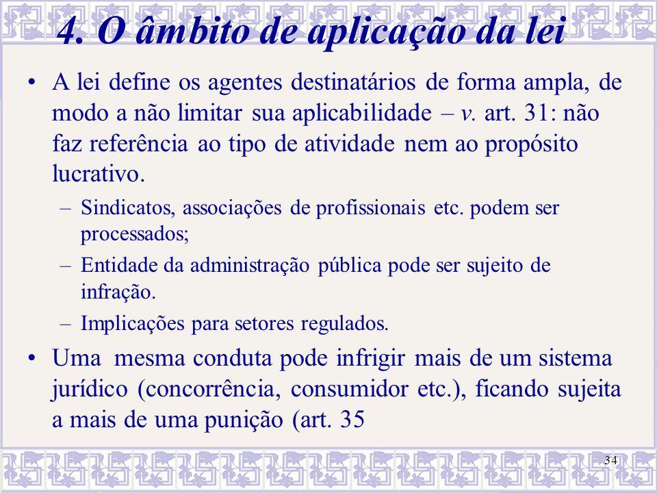 4. O âmbito de aplicação da lei