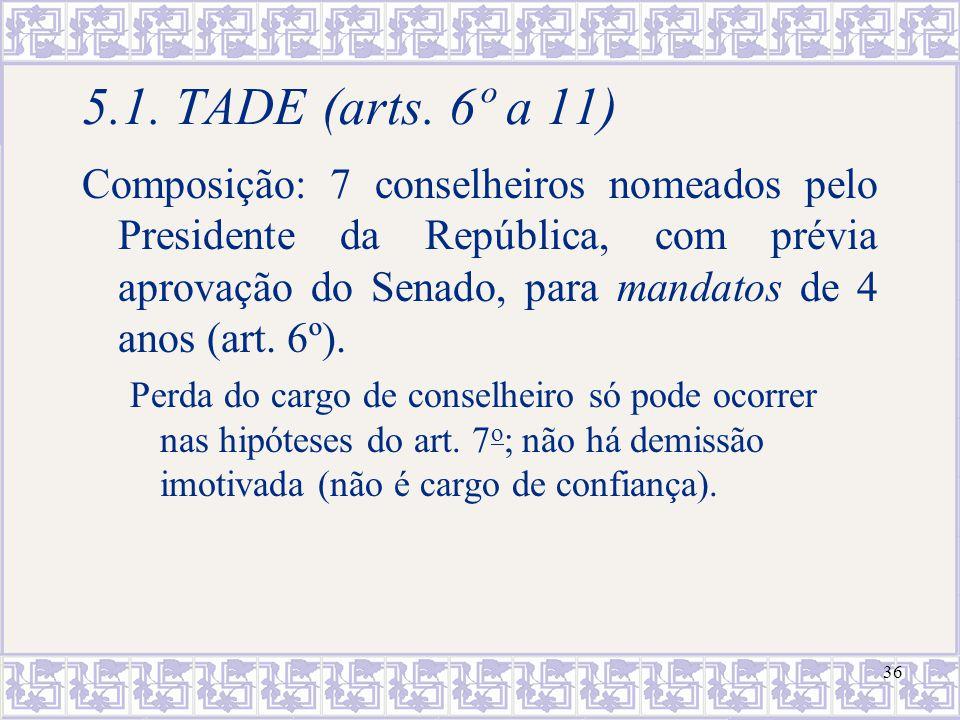 5.1. TADE (arts. 6º a 11)