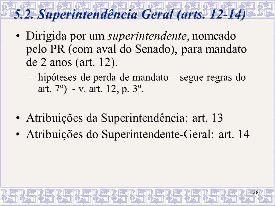 5.2. Superintendência Geral (arts. 12-14)