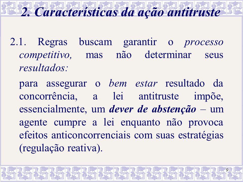 2. Características da ação antitruste