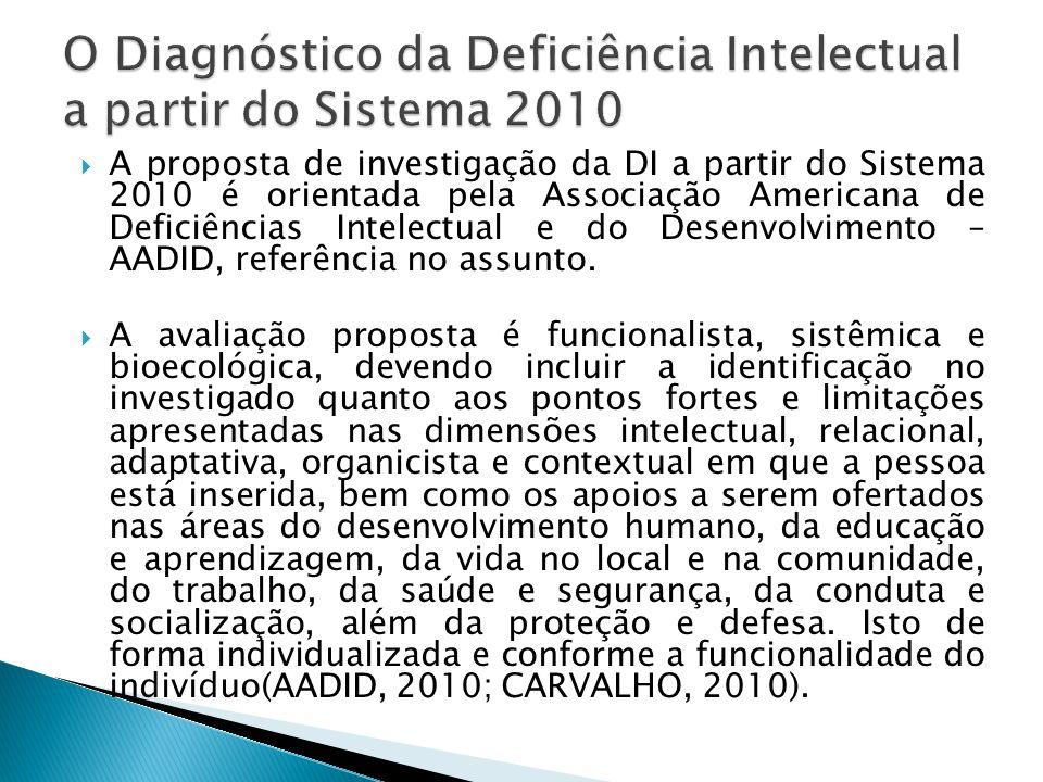 O Diagnóstico da Deficiência Intelectual a partir do Sistema 2010