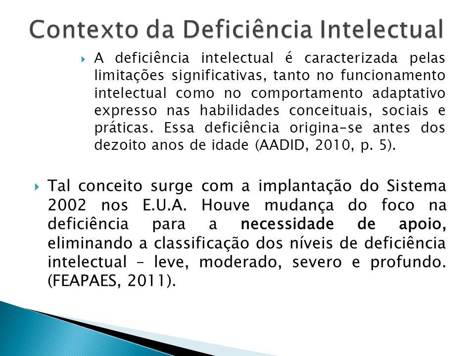 Contexto da Deficiência Intelectual