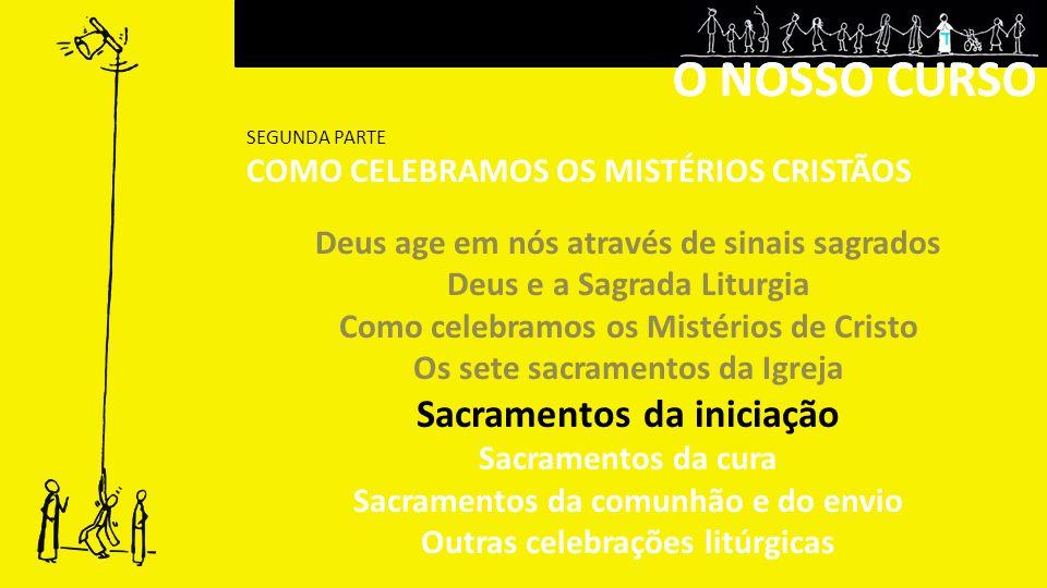 O NOSSO CURSO O NOSSO CURSO Sacramentos da iniciação