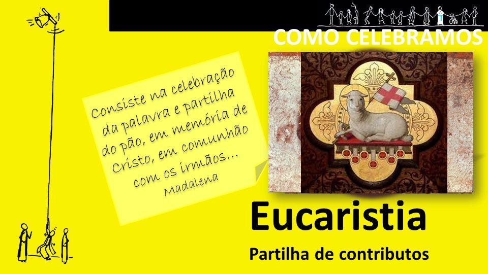 Eucaristia COMO CELEBRAMOS Partilha de contributos