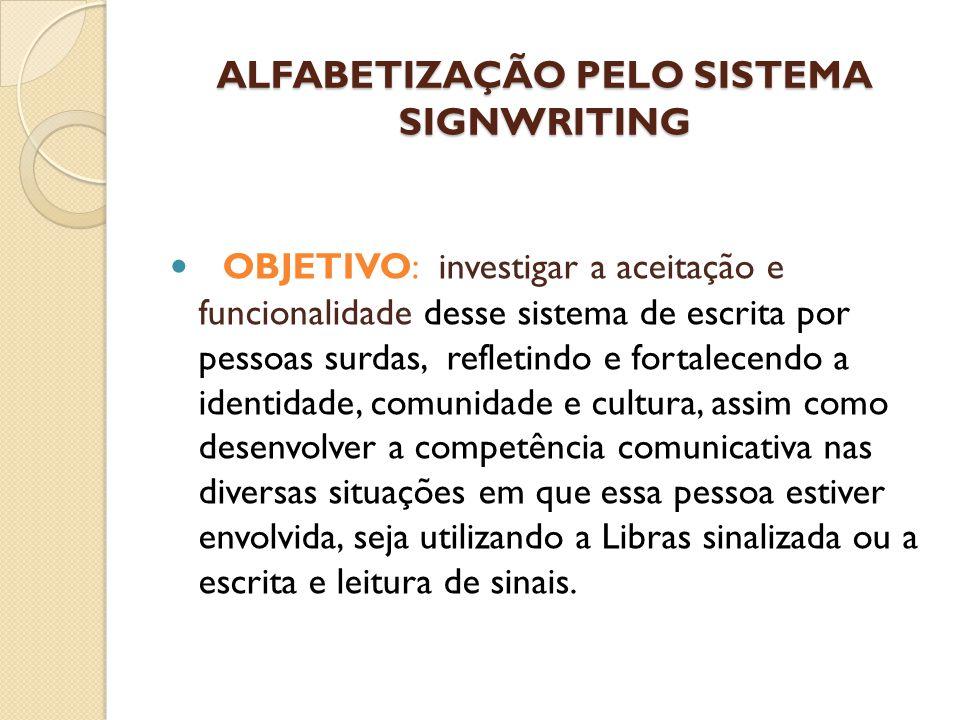 ALFABETIZAÇÃO PELO SISTEMA SIGNWRITING