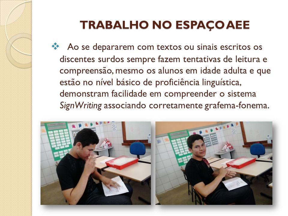TRABALHO NO ESPAÇO AEE