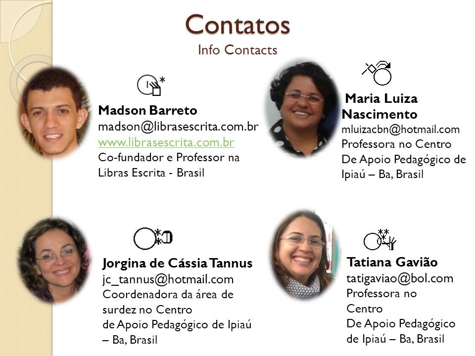 Contatos Info Contacts