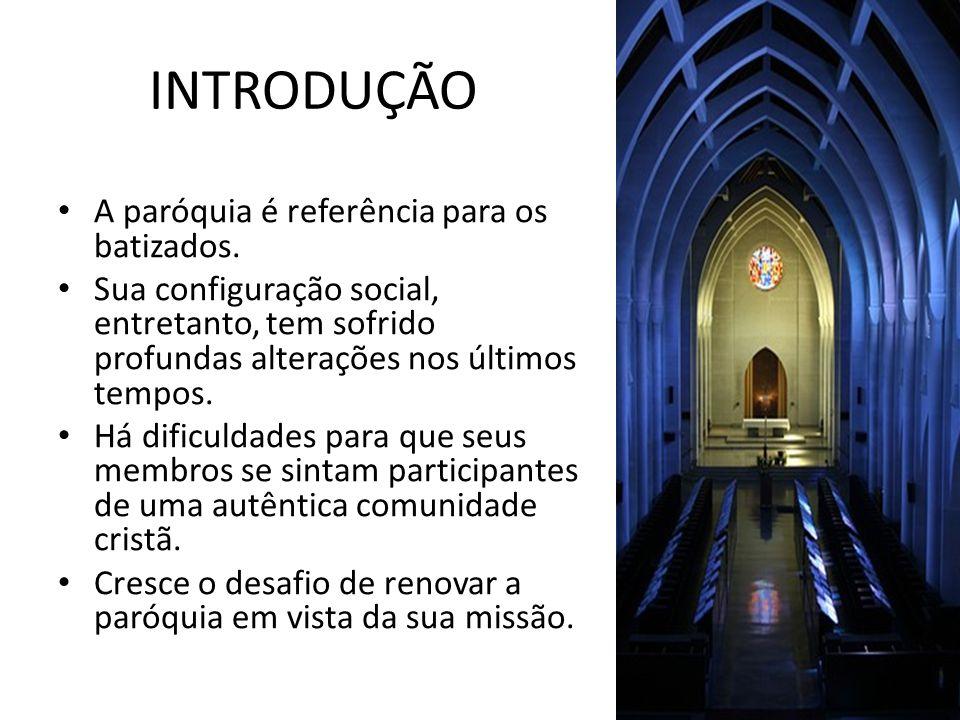 INTRODUÇÃO A paróquia é referência para os batizados.