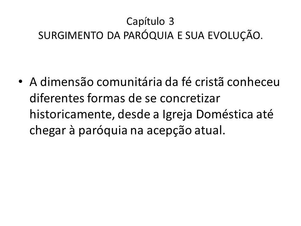 Capítulo 3 SURGIMENTO DA PARÓQUIA E SUA EVOLUÇÃO.