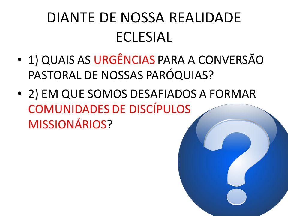 DIANTE DE NOSSA REALIDADE ECLESIAL