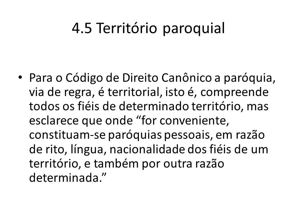 4.5 Território paroquial